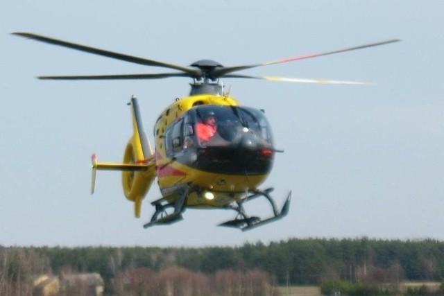 Kobietę zabrał helikopter LPR.