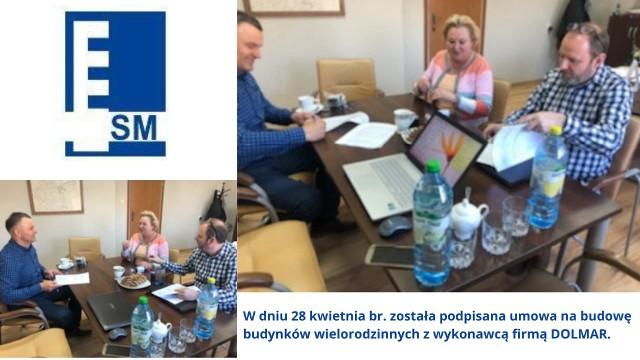 Spółdzielnia Mieszkaniowa w Golubiu-Dobrzyniu podpisała umowę z firmą DOLMAR, która wybuduje dwa bloki