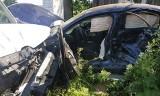Wypadek pod Solcem nad Wisłą. Samochód dostawczy zderzył się z osobówką