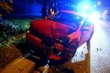 Wypadek na Karmelkowej. Volkswagen zderzył się z hondą [ZDJĘCIA]