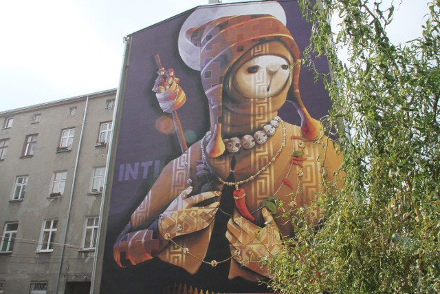 28 Pułku Strzelców Kaniowskich 48 - Więcej: Inti tworzy mural przy ul. 28 Pułku Strzelców Kaniowskich 48