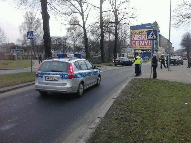 Potrącenie na ul. Tuwima w Słupsku.
