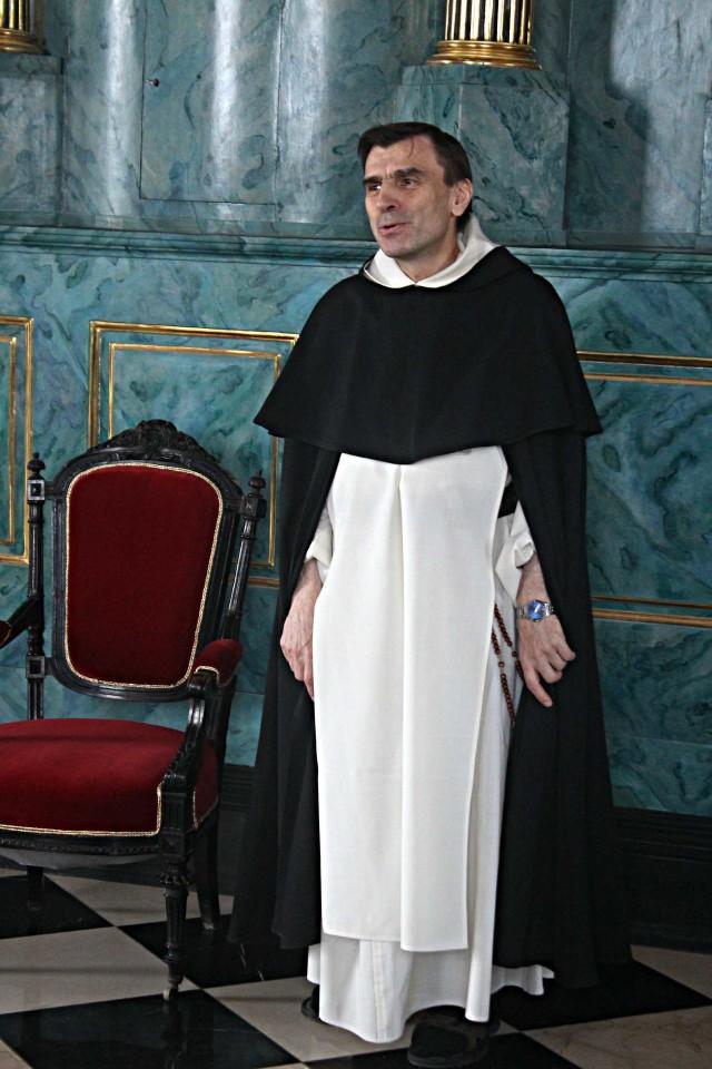 Ojciec Krzysztof Modras, przeor klasztoru ojców dominikanów w Lublinie
