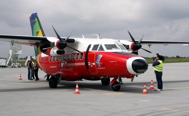 """Samolot pomiarowy """"papuga"""" dwa tygodnie temu testował ILS na Lotnisku Lublin"""