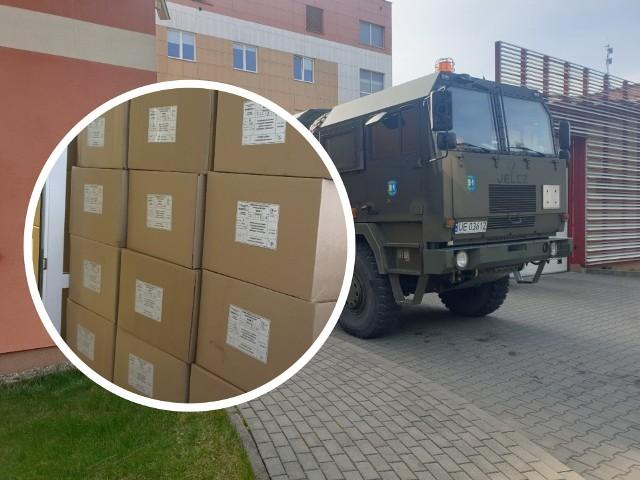 Dziś dotarł do Grudziądza transport odzieży ochronnej dla personelu szpitala