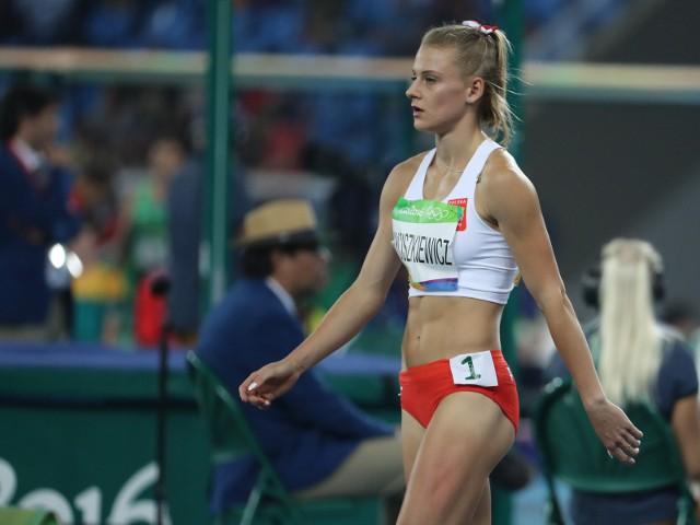 Brazylia, Rio de Janeiro, zawody lekkoatletyczne na stadionie olimpijskim. Na zdjeciu Patrycja Wyciszkiewicz