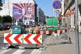 Powstaje droga rowerowa na Piłsudskiego (ZDJĘCIA)