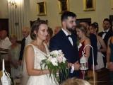 Flecistka z orkiestry w Skaryszewie wzięła ślub. W kościele zagrał jej cały zespół (DUŻO ZDJĘĆ)
