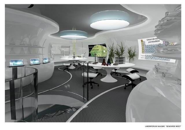 Do nauki przez zabawę. Niezwykłe miejsce ma powstać w Kielcach. Zobacz projekty Projekty firmy Trias Avi z Warszawy przedstawiające między innymi planowane w Energetyczny Centrum Nauki laboratorium naukowe.