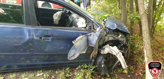 Wypadek na drodze 212 Bytów-Chojnice.