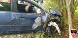 Wypadek na drodze 212 Bytów-Chojnice. Ranne zostało małe dziecko