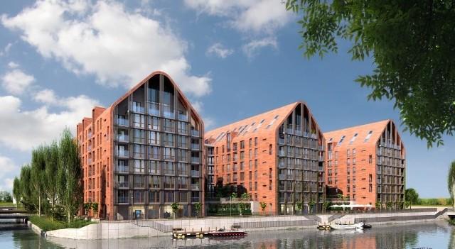 Tak będzie wyglądać osiedle Aura Park, jakie kielecka firma SPS Construction stawia w Gdańsku na Wyspie Spichrzów