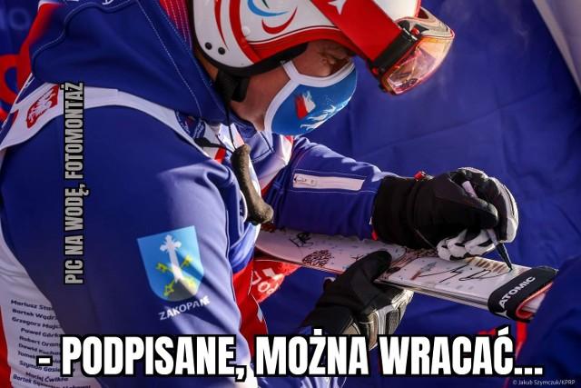 Andrzej Duda na nartach w Zakopanem. Zawody odbyły się mimo pandemii, ale w szczytnym celu. Internauci komentują aktywność prezydenta w memach