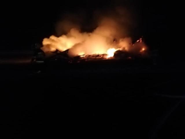 Pożar stodoły przy ulicy Pionkowskiej w Zwoleniu.