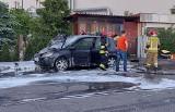 Na Nowym Mieście spłonął samochód