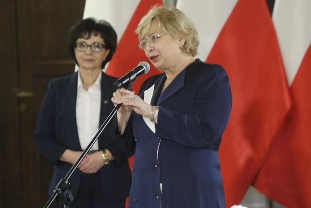 Elżbieta Witek i Małgorzata Gersdrof