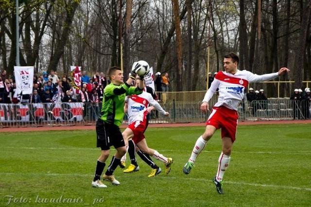 Krzysztof Chruściel był jednym z najlepiej prezentujących się zawodników Pogoni w trakcie meczu z Łódzkim Klubem Sportowym.