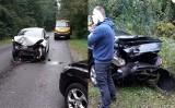 Ryczówek. Zderzenie trzech samochodów osobowych. Nie ma osób poszkodowanych