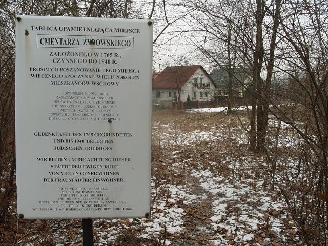 Cmentarz żydowski we Wschowie - luty 2013