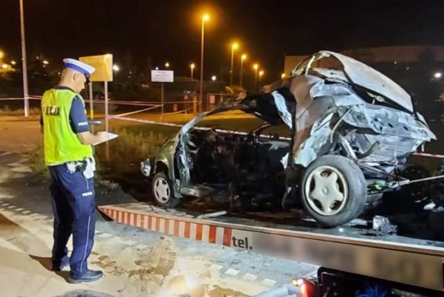 Tragiczny wypadek w Świeciu. Zginęły dwie osoby - motocyklista i kierowca samochodu
