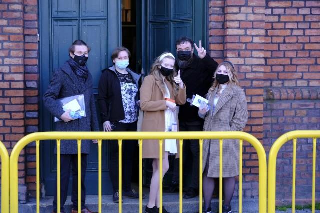 Maturzyści z I LO przed egzaminem z matematyki