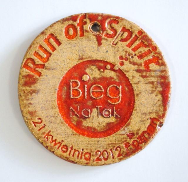 """Medal dla uczestników """"Run of Spirit - Biegu Na Tak"""""""