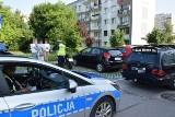 Wypadek w Kielcach. Motocykl wjechał w mercedesa