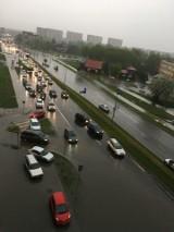 Białystok zalany. Burza przeszła nad miastem. Ulewa zamieniła ulice w rzeki 7.05.2017 ZDJĘCIA WIDEO