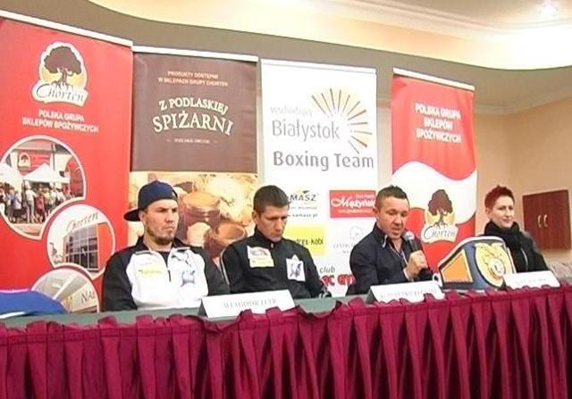 Konferencja prasowa w Białymstoku - przed galą z udziałem m.in. Roberta Świerzbińskiego.