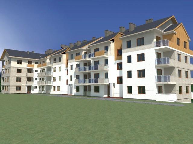 Wizualizacja nowego bloku w KilecachW Kielcach powstanie 151 mieszkań w trzech blokach towarzystwa budownictwa społecznego. Zainteresowanie lokalami jest bardzo duże.