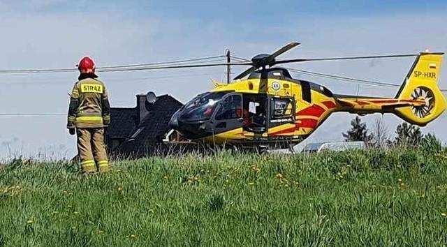 Na ratunek poparzonemu 15-latkowi ruszyli m.in. strażacy. Ściągnięto helikopter