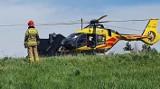 Mucharz. 15-latek oblał się benzyną i podpalił. Przeżył. Pogotowie lotnicze zabrało go do szpitala [ZDJĘCIA]