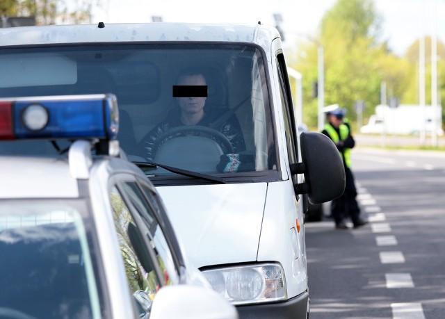 """Kierowca busa wpadł podczas akcji """"Zielona strzałka"""" w Zielonej Górze."""