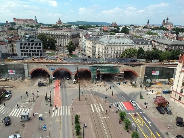 Trwa budowa nowych estakad w centrum Krakowa