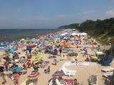 Upał nad morzem. Tłumy na plaży w Międzyzdrojach! ZDJĘCIA