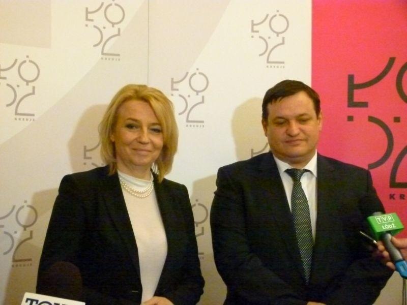 Hanna Zdanowska i Jacek Męcina.