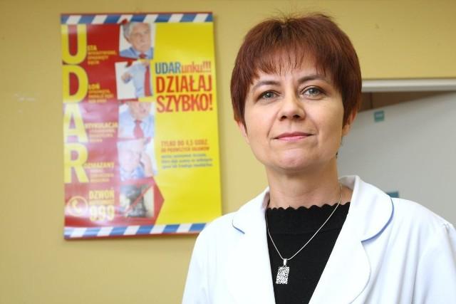 Edyta Brelak, zastępca kierownika Świętokrzyskiego Centrum Neurologii w Szpitalu Zespolonym w Kielcach