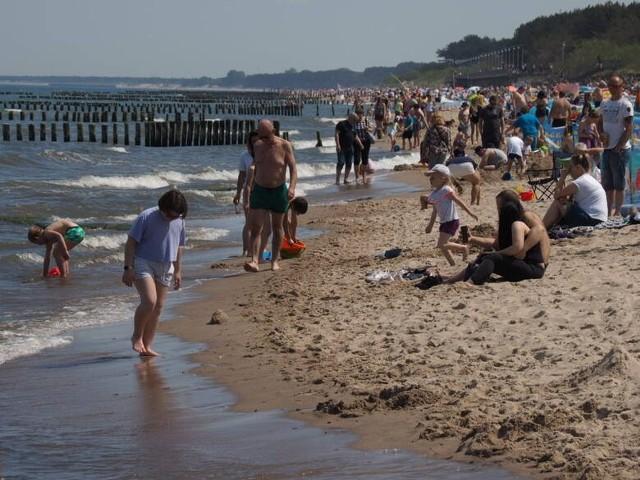 Słoneczny weekend nad morzem