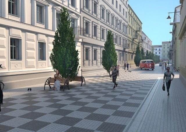 Mnóstwo betonu i mało zieleni - te wizualizacje nie przypadły łodzianom do gustu. Urzędnicy twierdzą, że to tylko koncepcje, w rzeczywistości ulica zostanie bardziej zazieleniona.