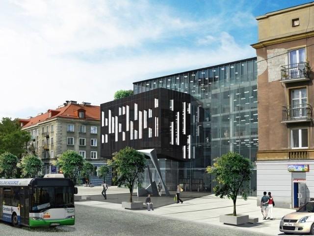 Oto jedna z kliku propozycji przebudowy kina Pokój, którą na zlecenie spółki KInoplex BSK przygotowała pracownia Archi-Plus