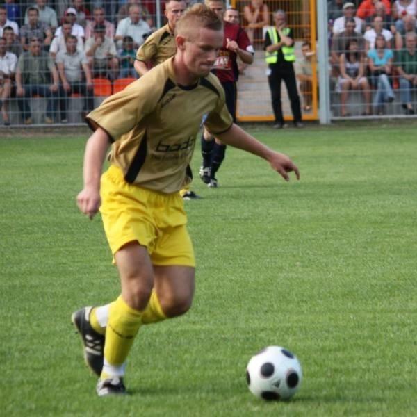 Tomasz Cieślak miał jesienią w MKS-ie pewne miejsce na prawej stronie obrony.