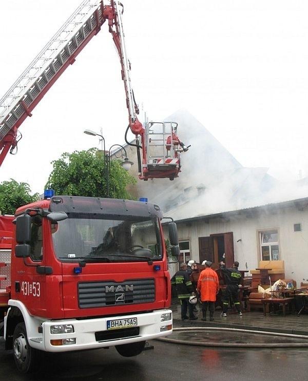 Strażakom udało się uratować kotłownię olejową