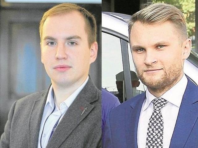 Poseł Adam Andruszkiewicz (z lewej) chce oddać głos Polakom, poseł Krzysztof Truskolaski jest przeciwny referendum