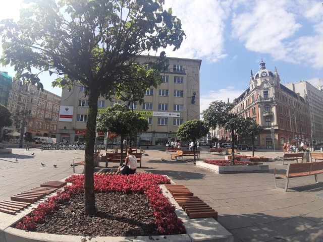 Surmie na placu Kwiatowym na rynku w Katowicach