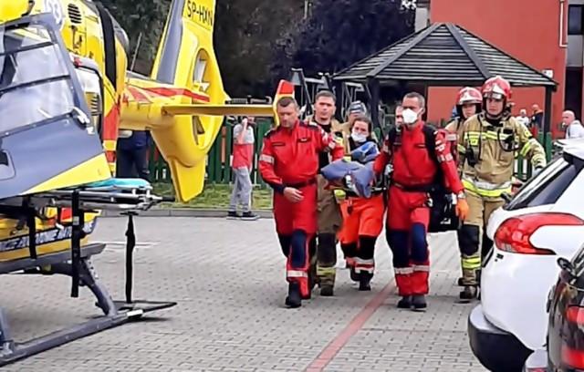 Dramatyczny wypadek w Siemianowicach Śląskich. Ośmioletnia dziewczynka wypadła z 3. piętra.Zobacz kolejne zdjęcia. Przesuwaj zdjęcia w prawo - naciśnij strzałkę lub przycisk NASTĘPNE