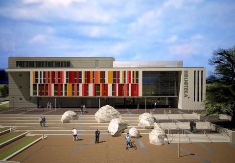 Tak będzie wyglądać siedziba nowej Biblioteki Głównej Uniwersytetu Jana Kochanowskiego w Kielcach. Zbuduje ją Skanska za 44 miliony złotych