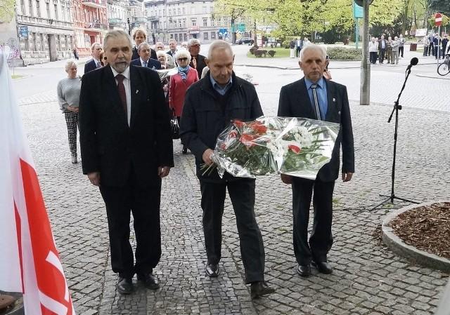 Andrzej Kieraj (po lewej) nie zamierza zmieniać barw politycznych