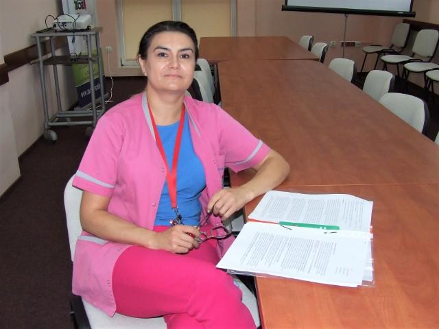 Dorota Bielecka, koordynator Centrum Zdrowia Powiatowego w Nowej Dębie