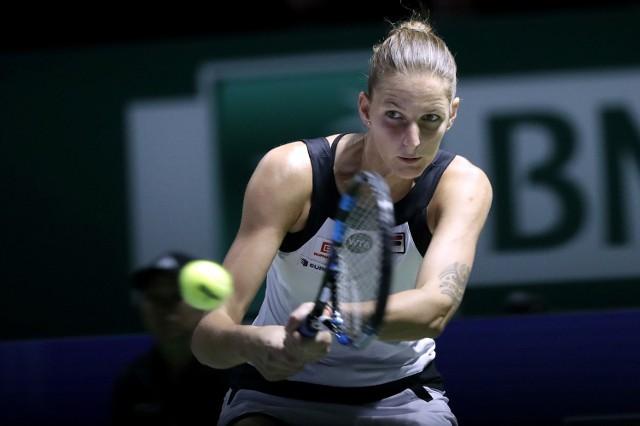 Karolina Pliskova w meczu ze Swietłaną Kuzniecową
