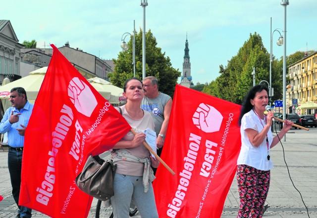 Protest w Tesco w Częstochowie nie jest pierwszym protestem pracowników tej sieci. Protestowali też pracownicy Tesco w Sosnowcu
